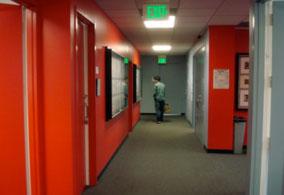 Hallway with Emergency Lighting